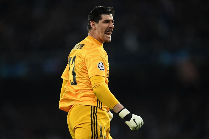 Thibaut Courtois in action for Real Madrid
