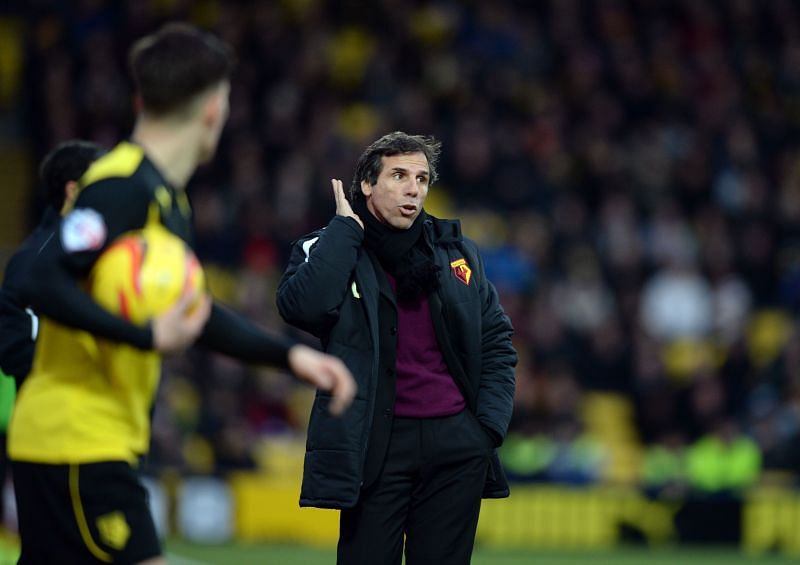 Gianfranco Zola struggled as boss of multiple sides, including Watford
