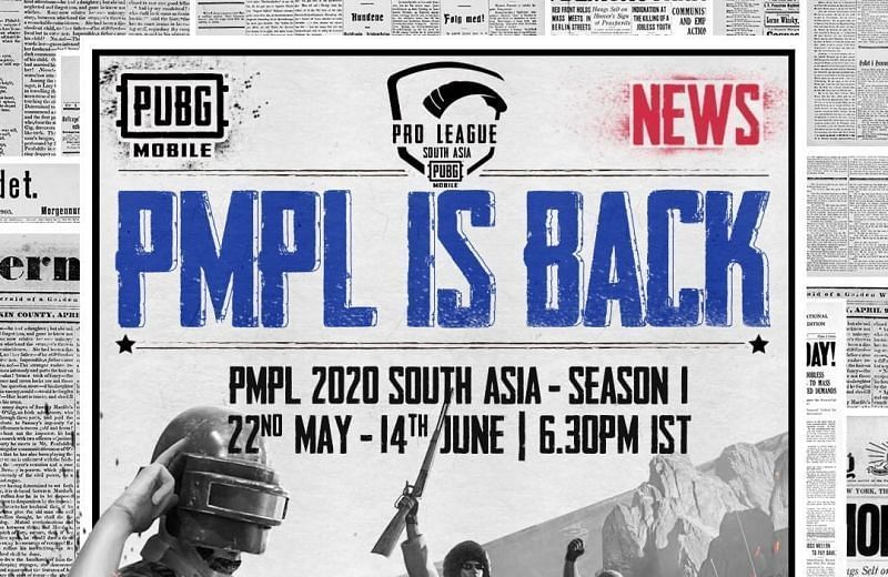 PMPL South Asia 2020 Groups, Date and Time