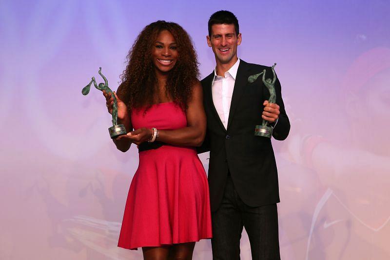 Serena Williams (L) and Novak Djokovic (R)