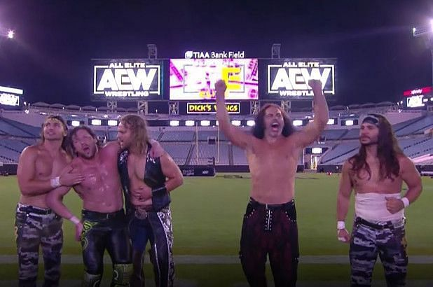The Elite stood tall after a memorable main event at AEW Double or Nothing