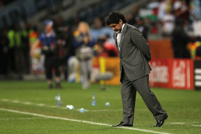 Diego Maradona struggled during his time as manager of Argentina