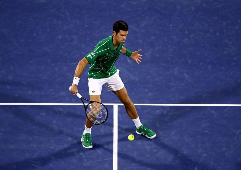 Novak Djokovic has trained on clay courts lately