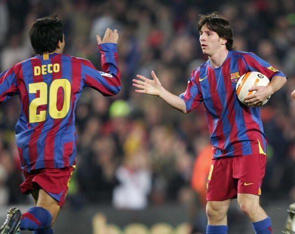 Deco and Lionel Messi enjoyed a successful time together at Barcelona