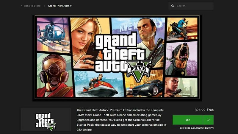 GTA 5 on Epic Games. Image: India TV