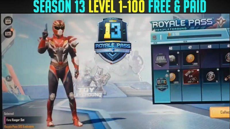 PUBG Mobile Season 13 Royale Pass Rewards (Credits: Ghost Gaming)