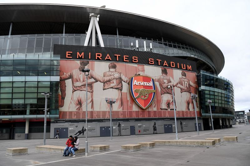 An outside view of the Emirates Stadium