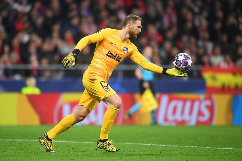 Jan Oblak during a UEFA Champions League Round of 16 game against Liverpool