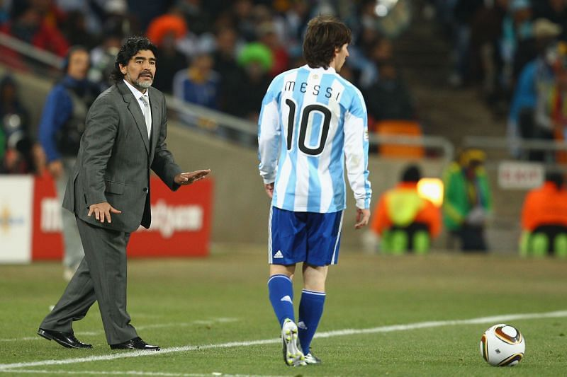 Lionel Messi has his own Hand of God goal, drawing comparisons with compatriot Diego Maradona.