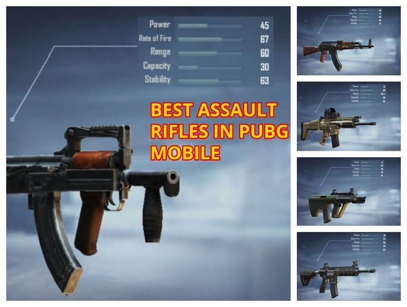 Best assault rifles in PUBG Mobile