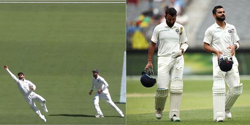 Cheteshwar Pujara and Virat Kohli bat in the top order for the Indian cricket team.