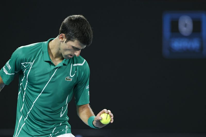 Novak Djokovic relies on his serve to bail him out of trouble more often than not