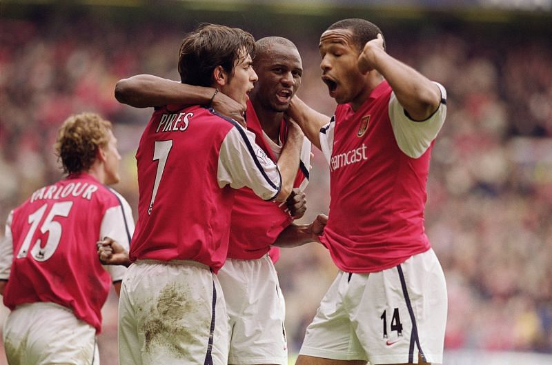 Patrick Vieira, Robert Pires, Thierry Henry- The iconic French trio of Arsenal