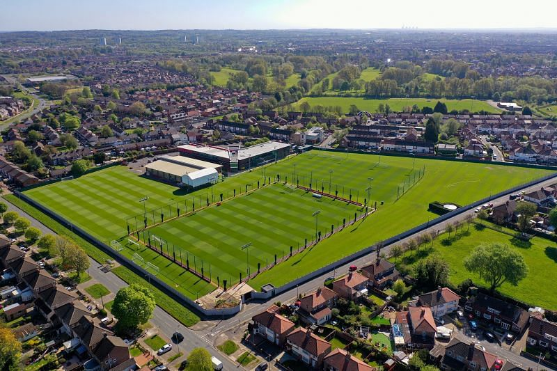 Aerial view of Melwood Training Ground