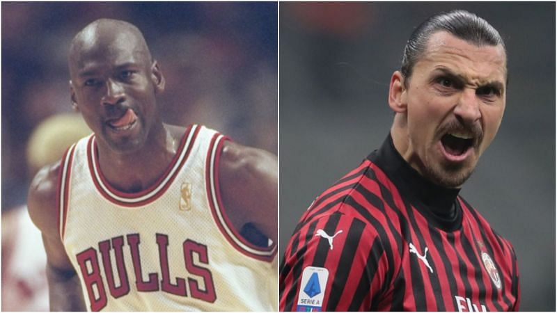 Michael Jordan and Zlatan Ibrahimovic - cropped
