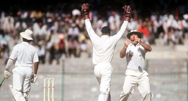 Mike Gatting became the focus of attention with a funny drop.