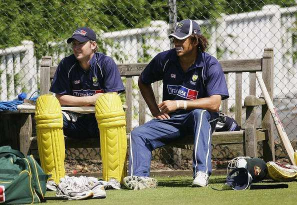 Michael Clarke lent a hand in Andrew Symonds