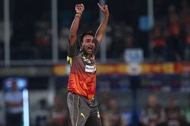 Amit Mishra took a hat-trick for SRH against Pune Warriors India.