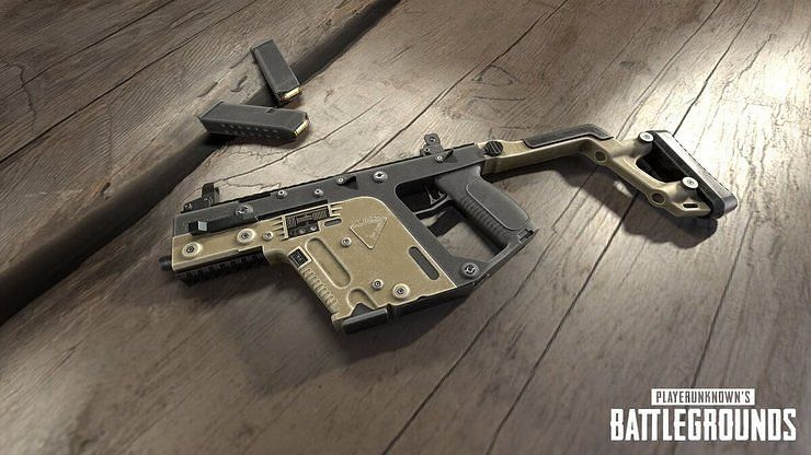 PUBG Mobile Vector gun, picture credits: gurugamer