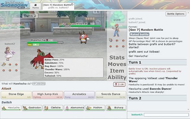 Pokemon Showdown can be played in the browser itself.