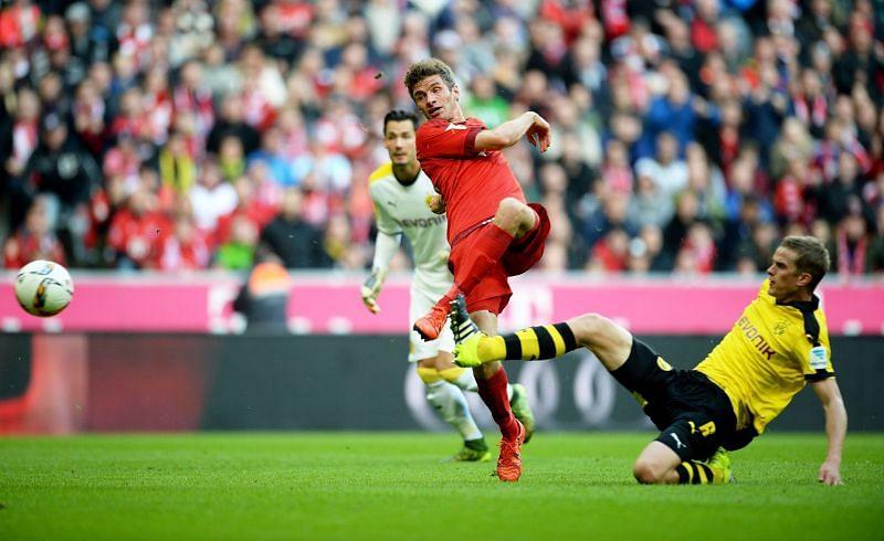 Bayern Munich and Borussia Dortmund go head-to-head in a potential title decider