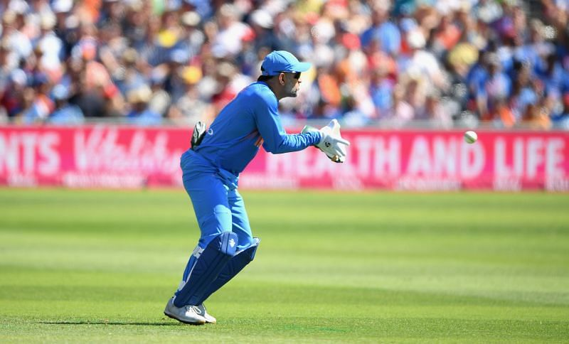 MS Dhoni has often been caught by the stump mic