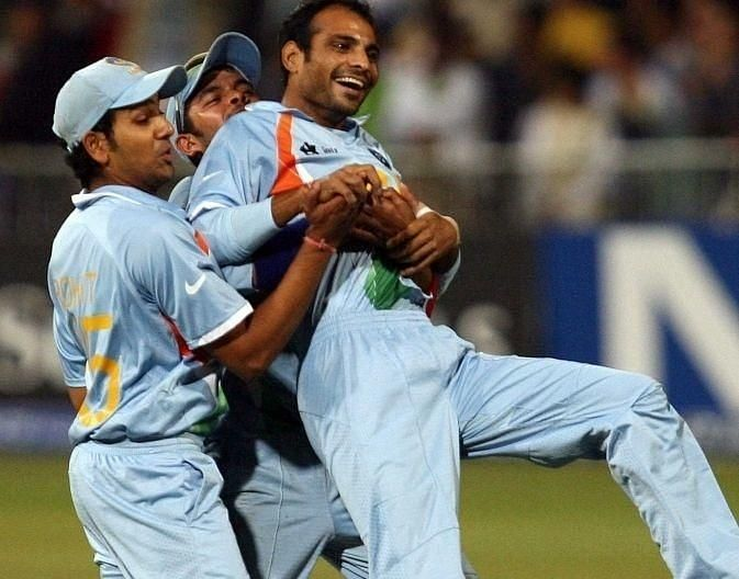 Joginder Sharma bowled the final over in India