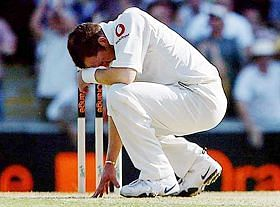 Michael Vaughan dropped Hayden and the bowler was utterly disappointed.