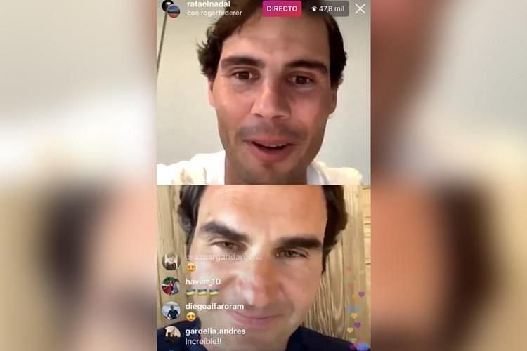 Rafael Nadal and Roger Federer had a video chat on Instagram