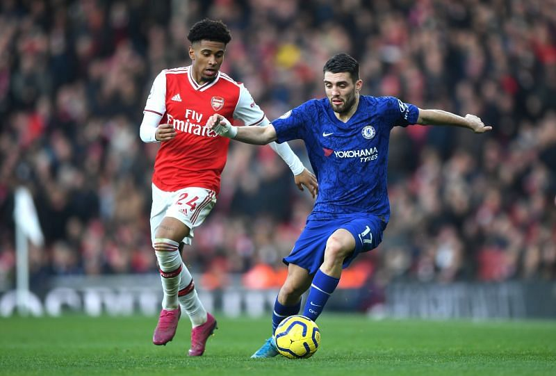 Mateo Kovacic during a Premier League game between Arsenal FC v Chelsea FC