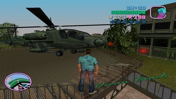 Hunter (Attack Helicopter in GTA Vice City)