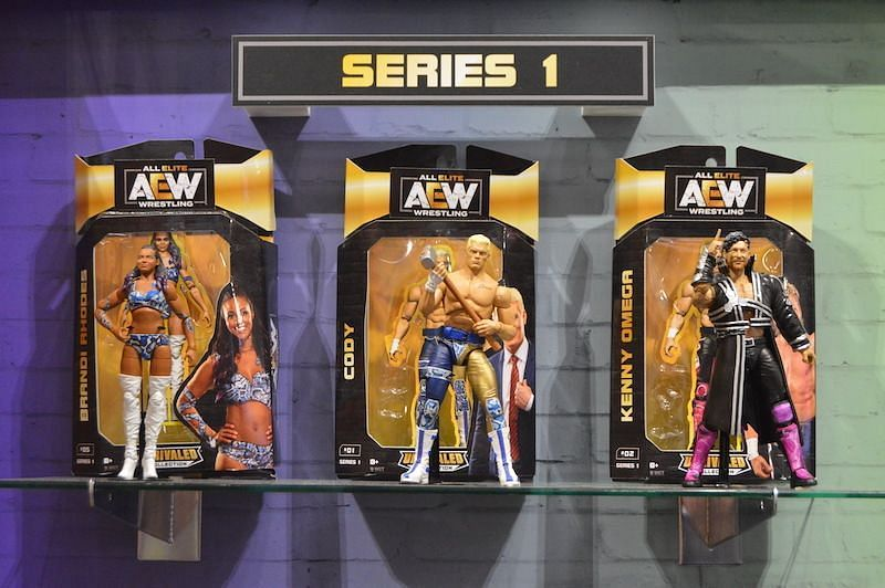 AEW are due to release their first action figures shortly.