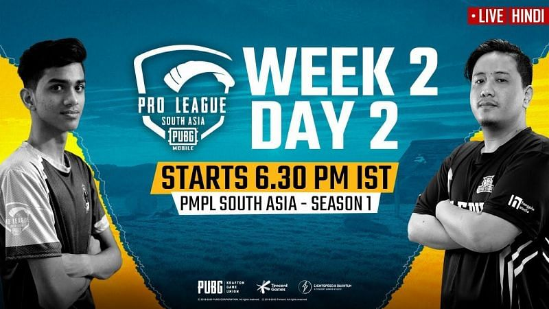 PMPL South Asia 2020 Week 2 Day 2 Schedule