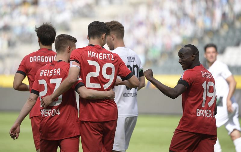 Havertz after scoring the decisive penalty against Monchengladbach on Saturday