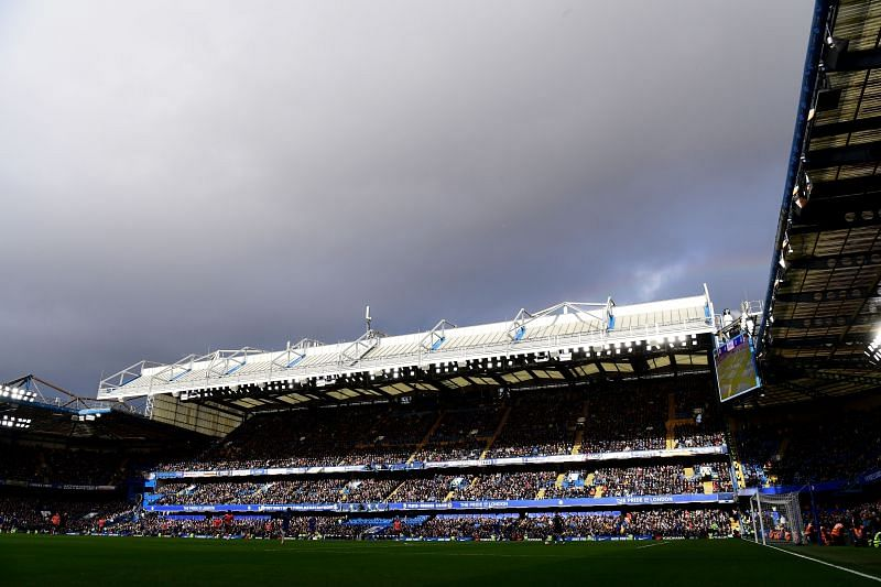 A view inside Stamford Bridge in a game against Everton