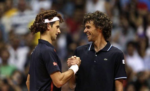 Novak Djokovic with Gustavo Kuerten