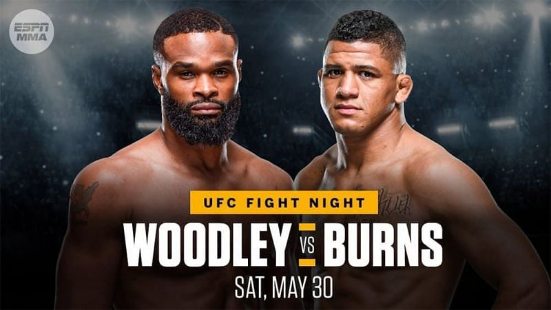 Tyron Woodley faces Gilbert Burns in the UFC