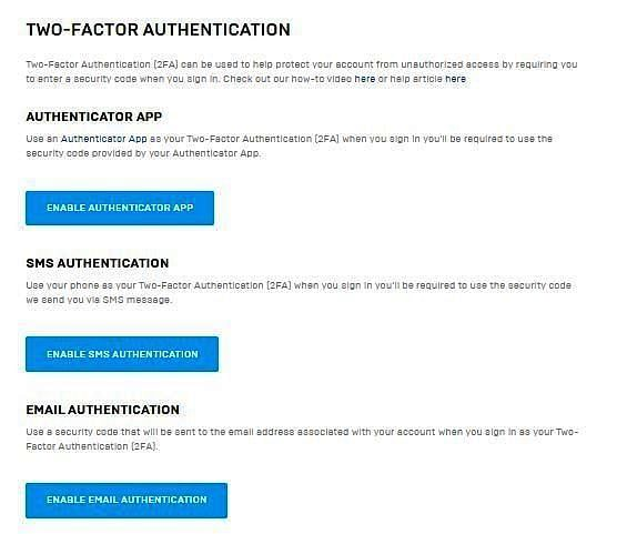 Enable Two Factor Authentication