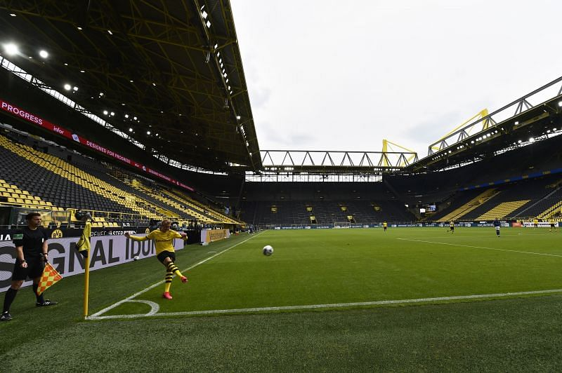 The Signal Iduna Park will be empty once again for the visit of the champions