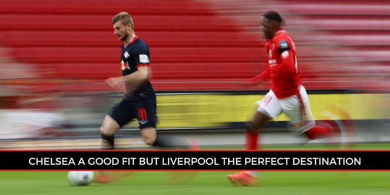 Timo Werner speeding past the Mainz defence in Sunday