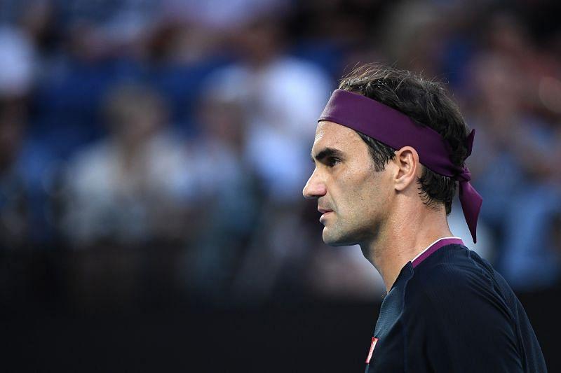 Roger Federer at the Australian Open earlier in the year