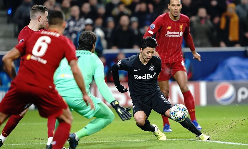 Hwang Hee-chan, like Minamino and Haaland, scored against Liverpool at Anfield this season