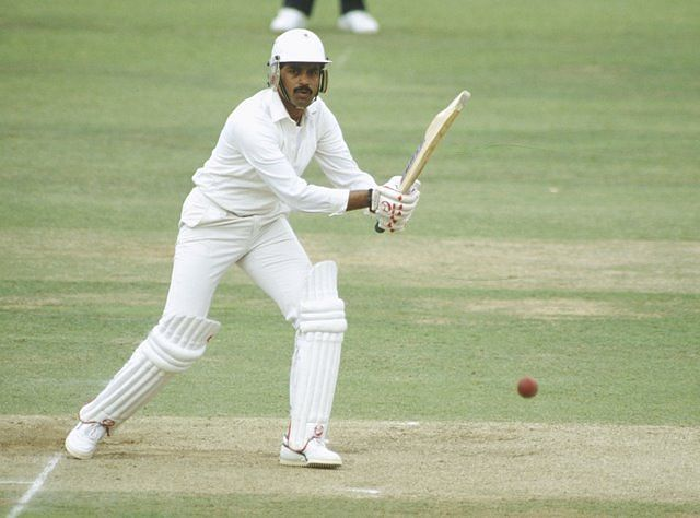Dilip Vengsarkar in action for Mumbai