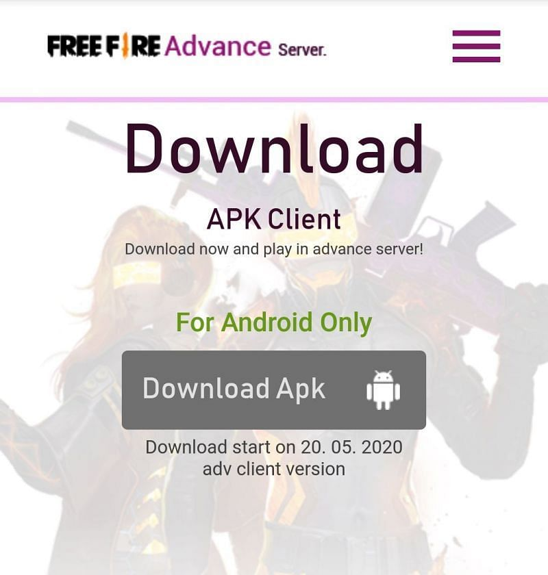 Download Free Fire OB22 Advance Server