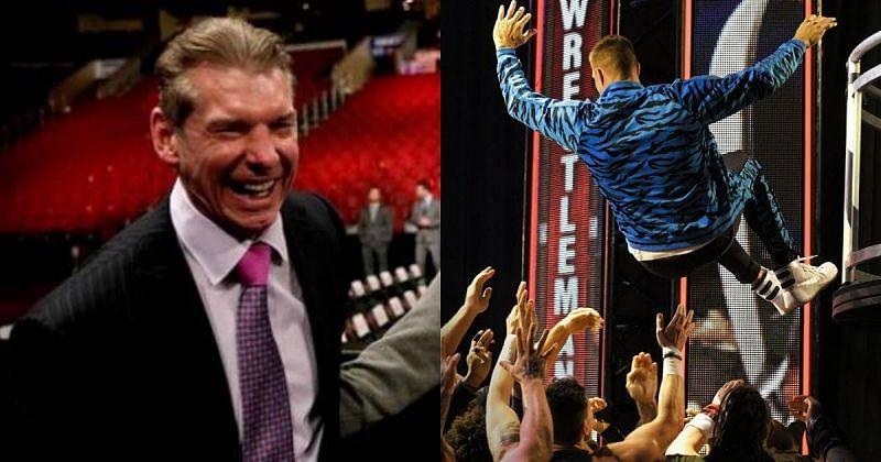 Vince McMahon and Rob Gronkowski.
