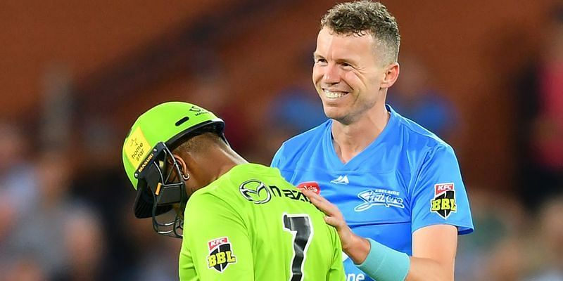 Peter Siddle saw the funny side of this incident