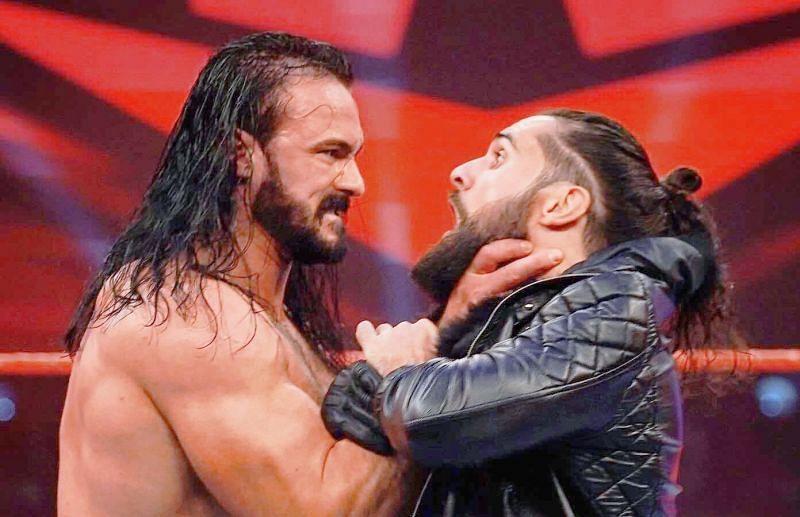 WWE चैंपियन ड्रू मैकइंटायर और सैथ रॉलिंस