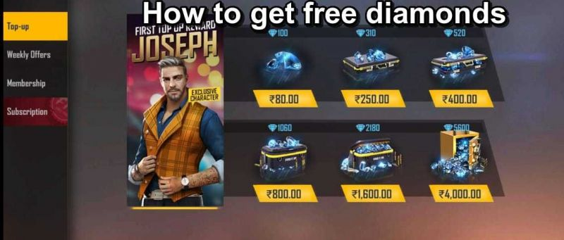 Free Fire How To Get Free Fire Diamonds In 2020