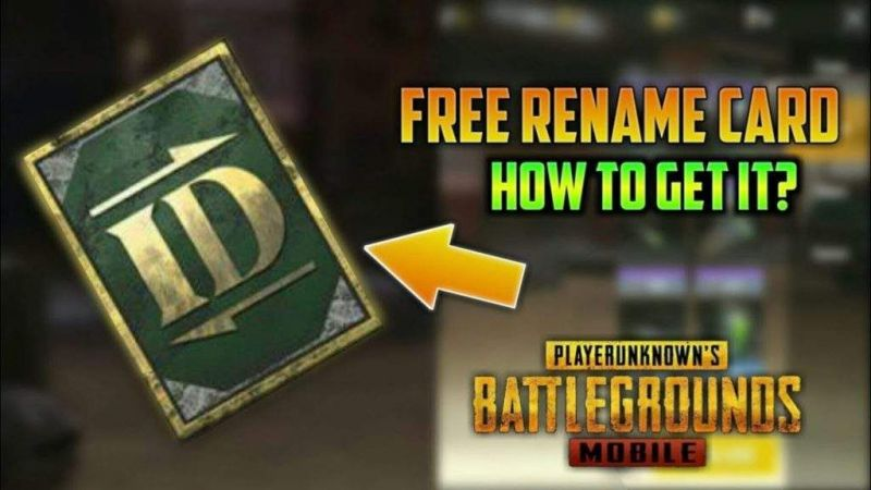 PUBG Mobile: How to get rename card in PUBG Mobile for free?