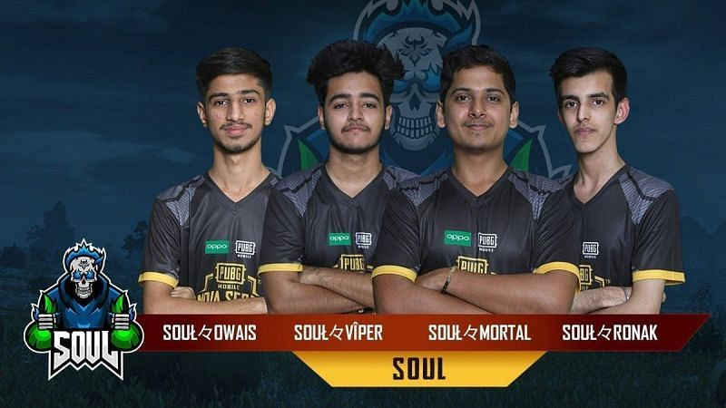 Team Soul is one of the best PUBG Mobile teams in India
